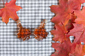 Red maple leaf background.