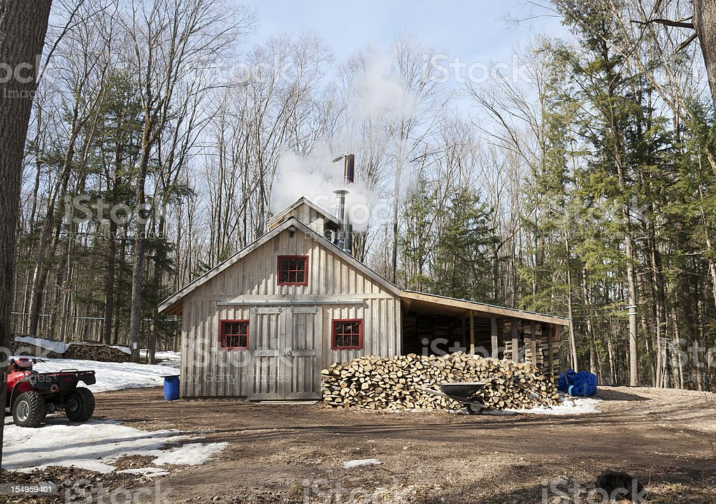 Maple Syrup Production Building stock photo
