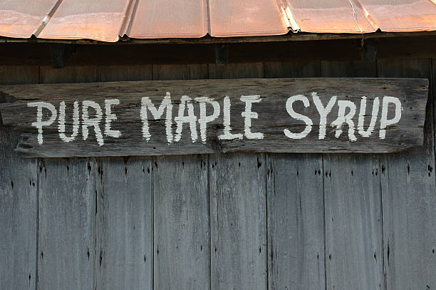Maple Syrup Sign stock photo