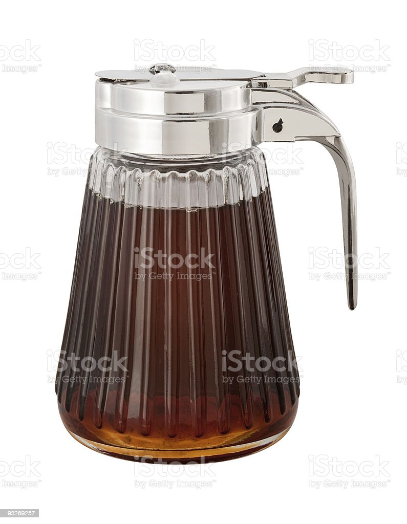 Maple Syrup with a clipping path royalty-free stock photo