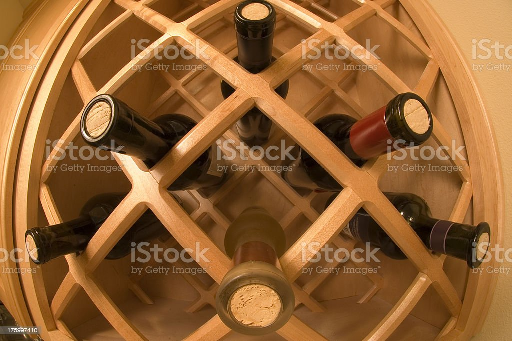 Maple Wine Rack royalty-free stock photo