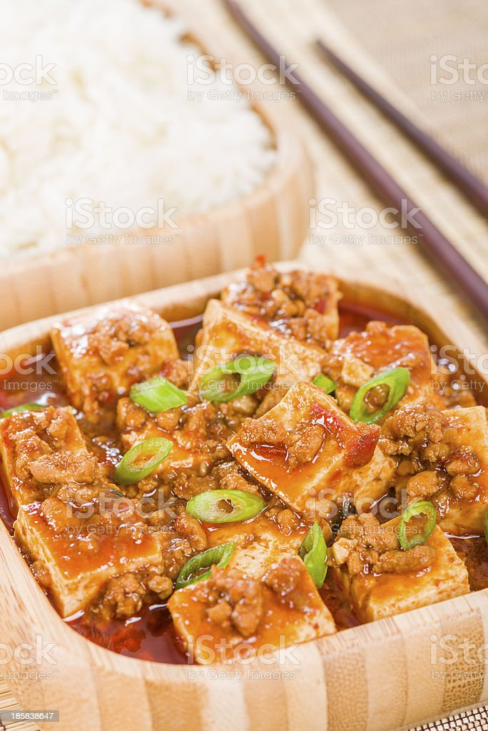 Mapo Tofu (麻婆豆腐) royalty-free stock photo
