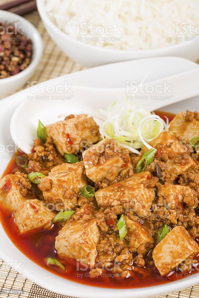 Mapo Tofu (麻婆豆腐) royalty-free stock photo