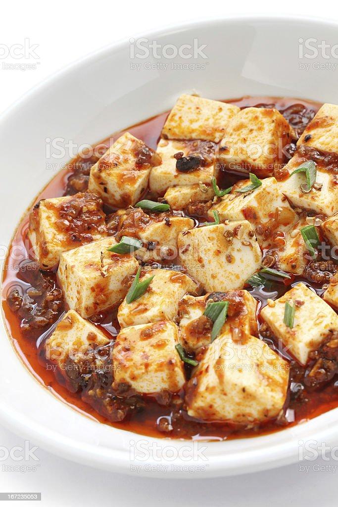 mapo tofu, sichuan style royalty-free stock photo