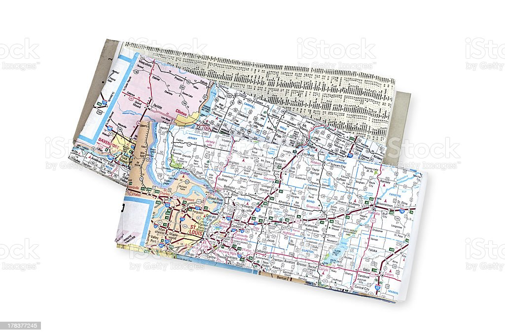 Maps stock photo