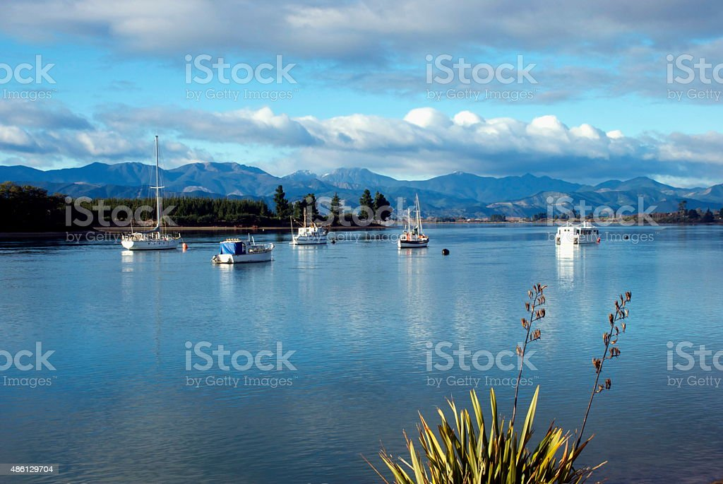 Mapua Estuary, Nelson, NZ stock photo