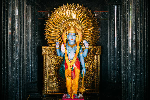 Mapusa, Goa, India. Shiva Statue In The Shri Dev Bodgeshwar Sansthan Temple. It Has A Shrine Which Is Dedicated To Kanakeshwar Baba Or Bodgeshwar. Landmark And Popular Destination stock photo