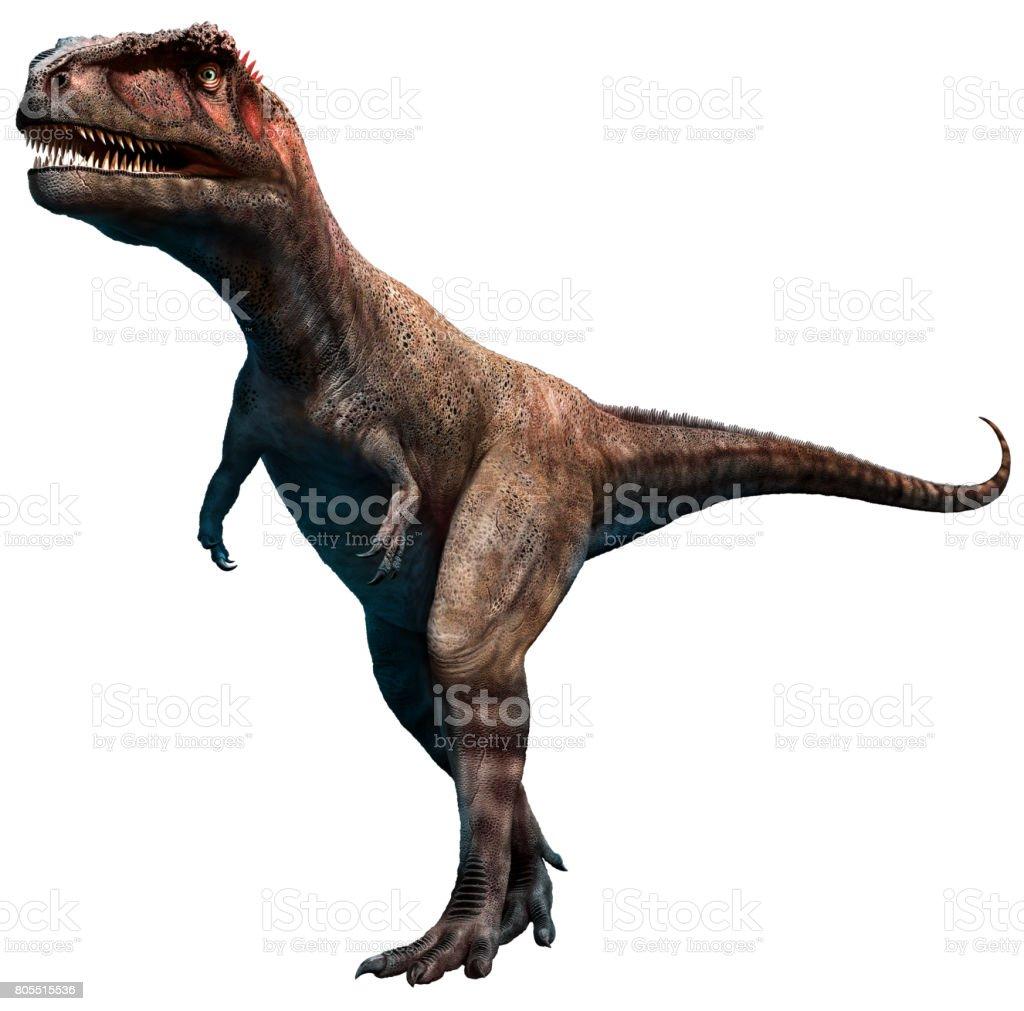 Mapusaurus 3D illustration stock photo