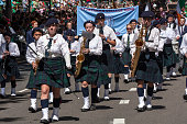 SYDNEY, AUSTRALIA - Mar 17TH: St Patrick's College band during the  St Patrick's Day parade on March 17th 2013. Australia has marked the occasion since 1810