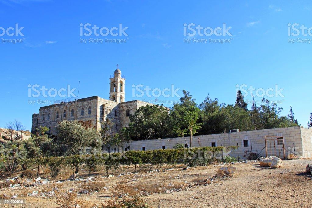 Mar Elias Monastery near Jerusalem, Israel stock photo