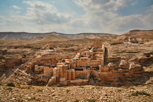 Mar Saba monastery at the desert (Israel) Mar Saba monastery at the desert (Israel) historical palestine stock pictures, royalty-free photos & images