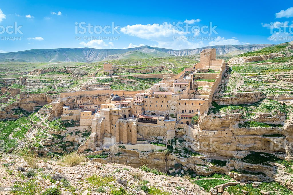 Mar Saba monastery stock photo