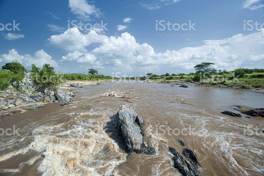 Mara River in the Serengeti/MasaiMara eco system stock photo
