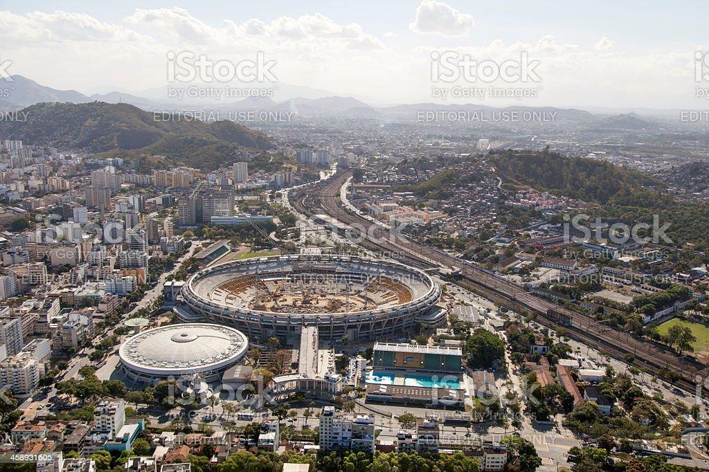 Maracana stadium being reformed royalty-free stock photo