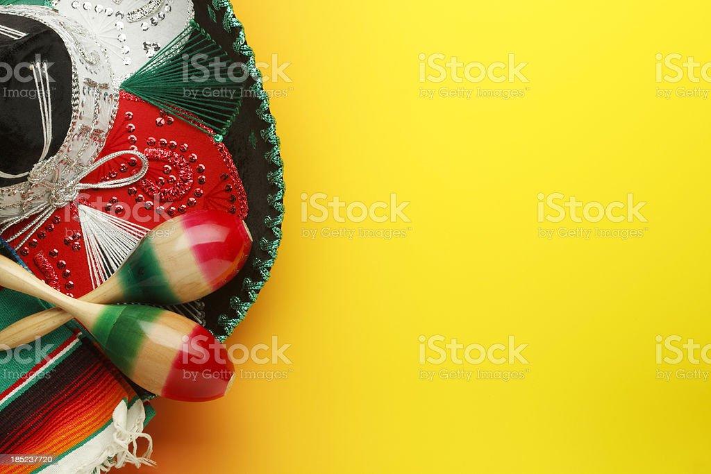 Maracas and Sombrero stock photo