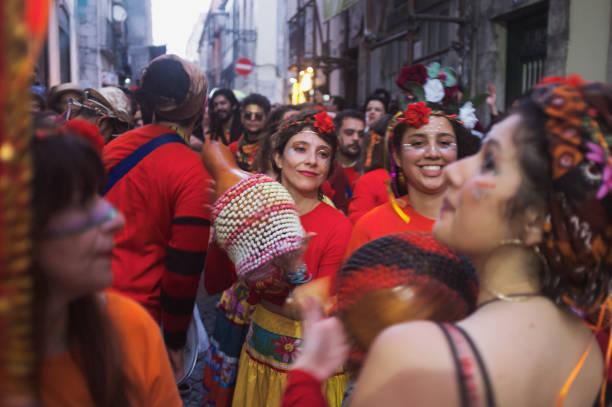 Maracatu-Gruppe in Lissabon – Foto