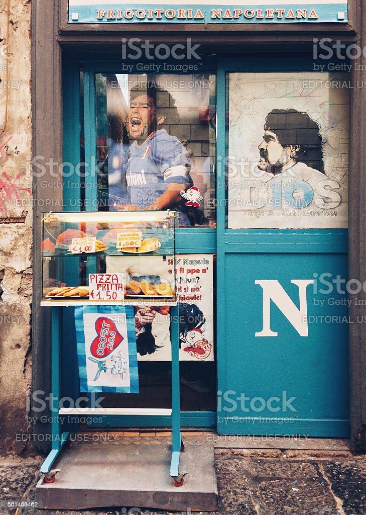 Maradona ainda é amada em Nápoles - Foto de stock de 2015 royalty-free