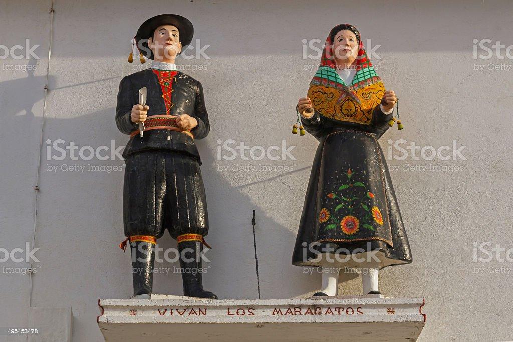 Maragatos cifras vestido de Costume típicos y tradicionales - foto de stock