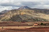 Maragua, Bolivia. 10-18-2019.  Mountains and Maragua village in Bolivia.
