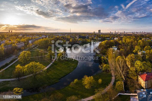 istock Maras pond in Agenskalns district in Riga, Latvia 1223477105
