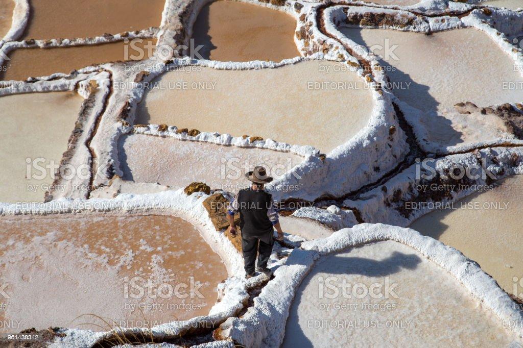Maras Salt Mines, Peru - Royalty-free Adult Stock Photo