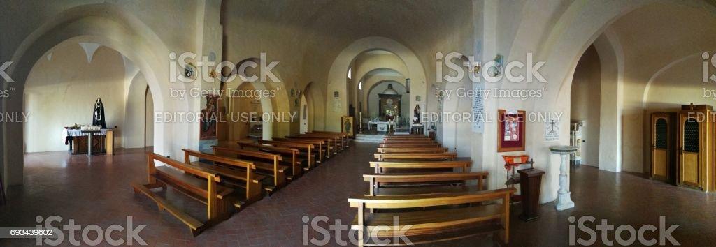 Maratea - Panoramica dell'interno della chiesa di San Biagio stock photo