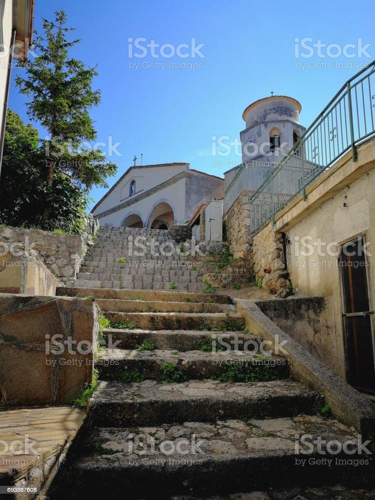 Maratea - Scorcio della chiesa di San Biagio stock photo