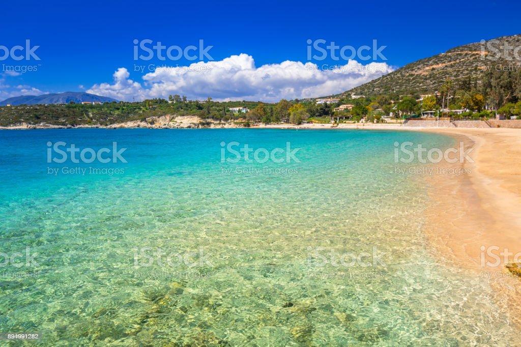 Marathi bay with beautiful beach on Crete – zdjęcie