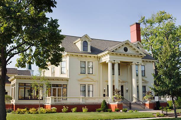 Maratón museo histórico de Condado, Cyrus Carpenter Yawkey Asamblea, Wausua, Wisconsin - foto de stock