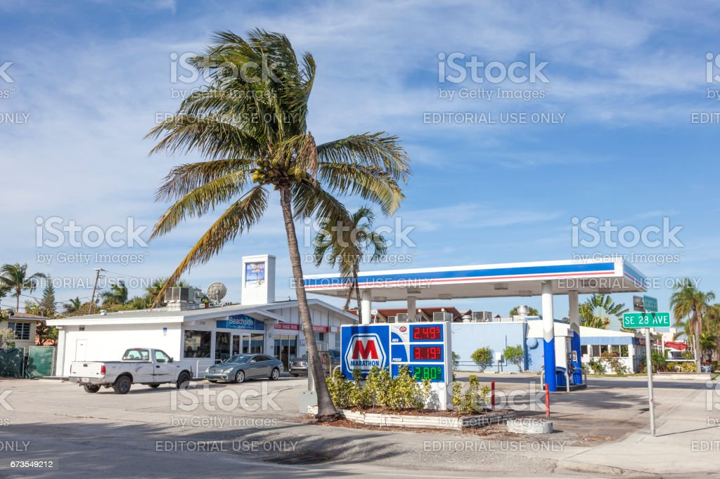 Marathon gas station in Florida, USA royalty-free stock photo