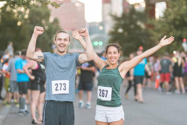 Maratón de la ciudad - foto de stock