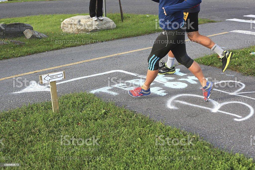 Marathon of Hope - Royalty-free Bicycle Lane Stock Photo