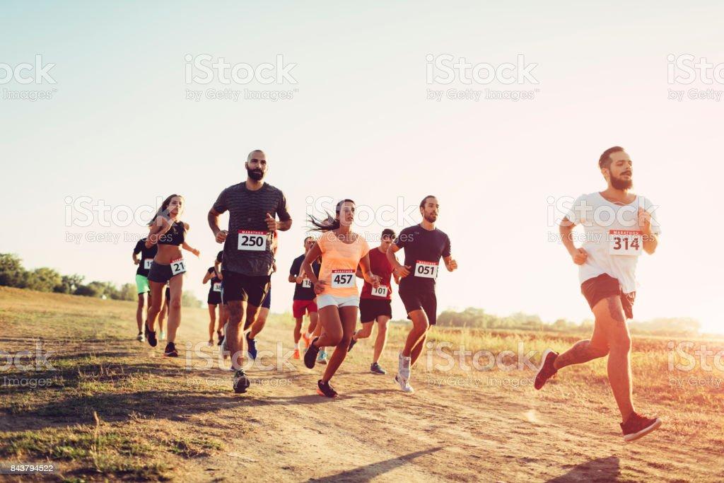 Marathon Race stock photo