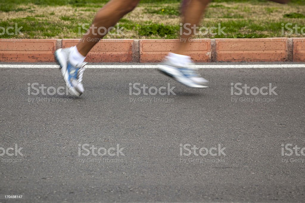 Marathon Runner royalty-free stock photo