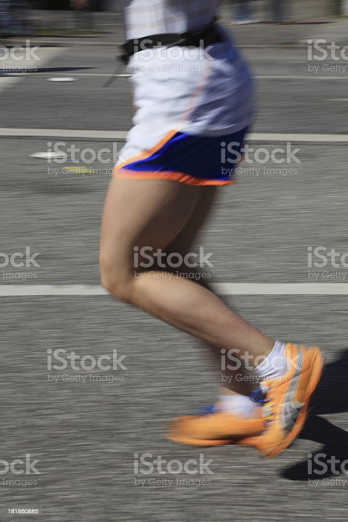 Marathon runner royalty-free stock photo