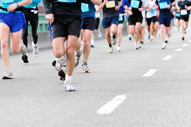 marathon-Läufer Nahaufnahme – Foto