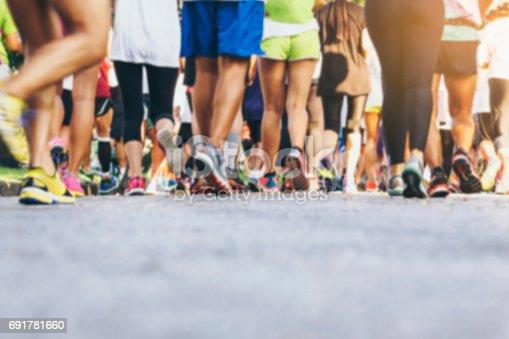 istock Marathon runners Crowd People outdoor Sport event 691781660