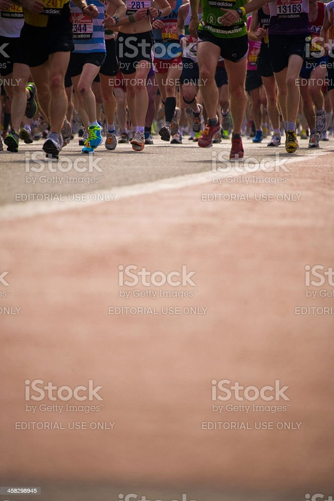 Marathon runners. London. vertical. royalty-free stock photo
