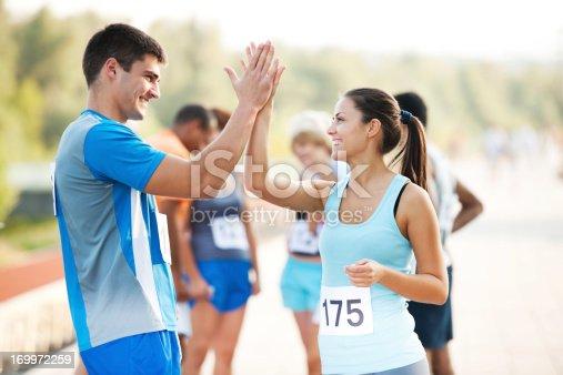 istock Marathon runners 169972259