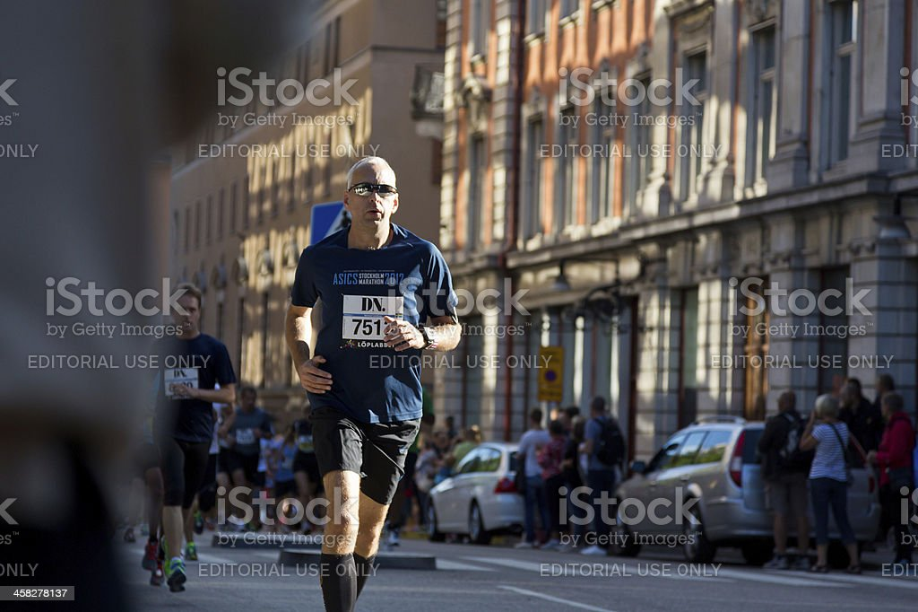 Marathon runners. royalty-free stock photo