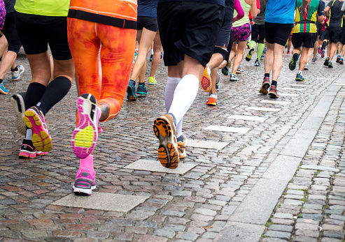 Marathon Runners Stock Photo - Download Image Now