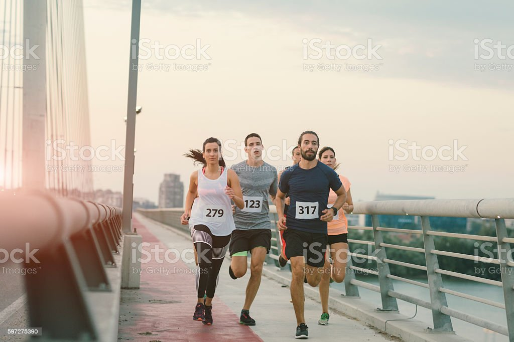 Marathon Runners. stock photo