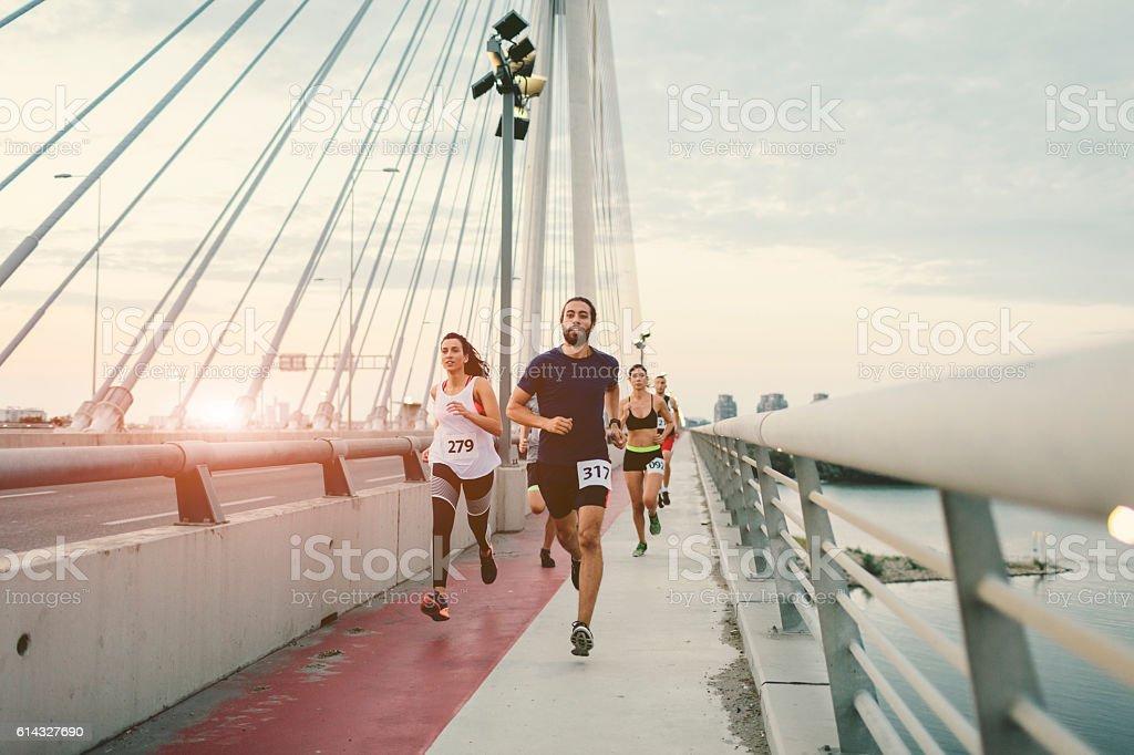 Marathon Runners. – Foto