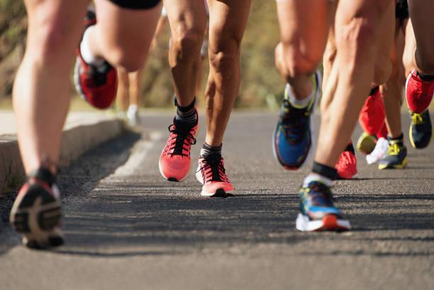 Maratón de atletismo - foto de stock