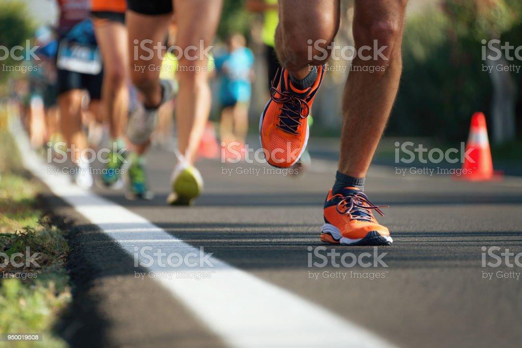Marathon running royalty-free stock photo