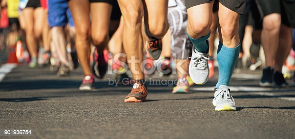 istock Marathon running race in the light of evening 901936754
