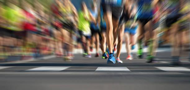 Maratón de carrera de atletismo - foto de stock