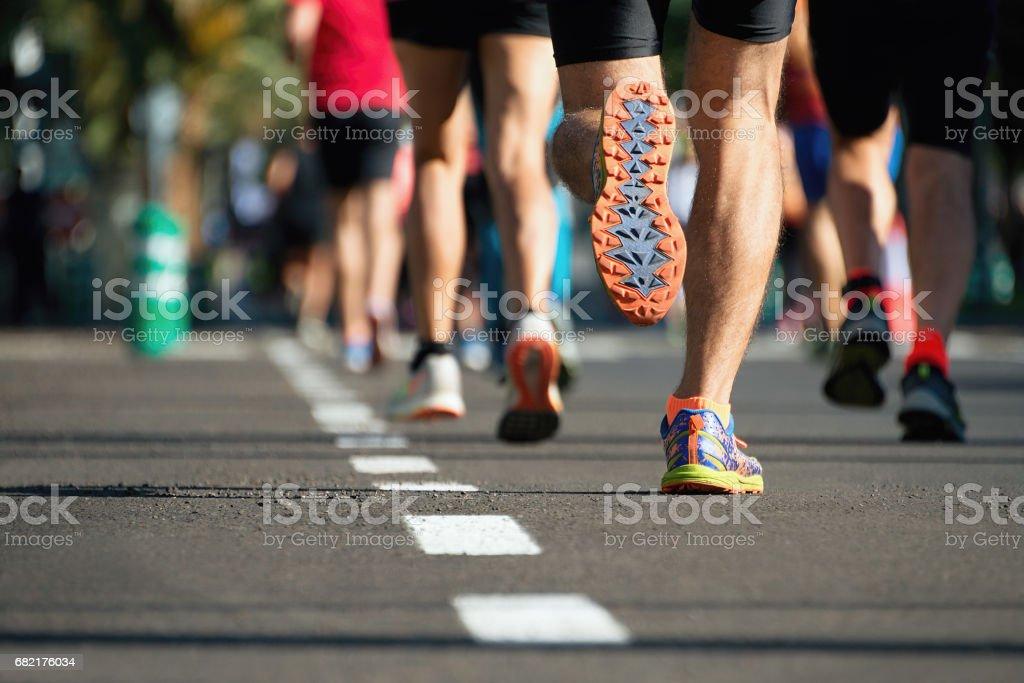 Marathon laufen Rennen - Lizenzfrei Aktiver Lebensstil Stock-Foto