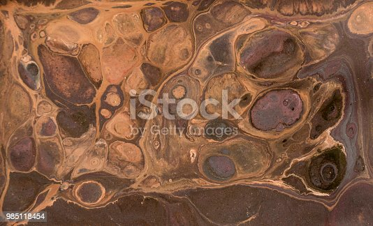 985119446istockphoto Marble abstract acrylic background. Marbling artwork texture. Agate ripple pattern. Gold powder. 985118454