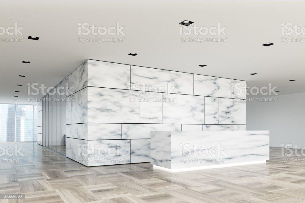 Marmor Und Glas Rezeption Lobby Seite Closeup Stockfoto und mehr ...
